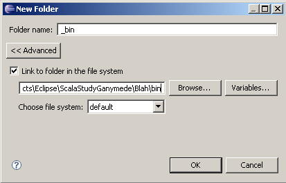 Link to folder in the file system